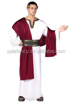 Mens Deluxe Caesar Costume Roman Greek costume men Tunic Toga Wreath Ceasar Robe Adult Fancy Dress  sc 1 st  Alibaba & Mens Deluxe Caesar Costume Roman Greek Costume Men Tunic Toga Wreath ...