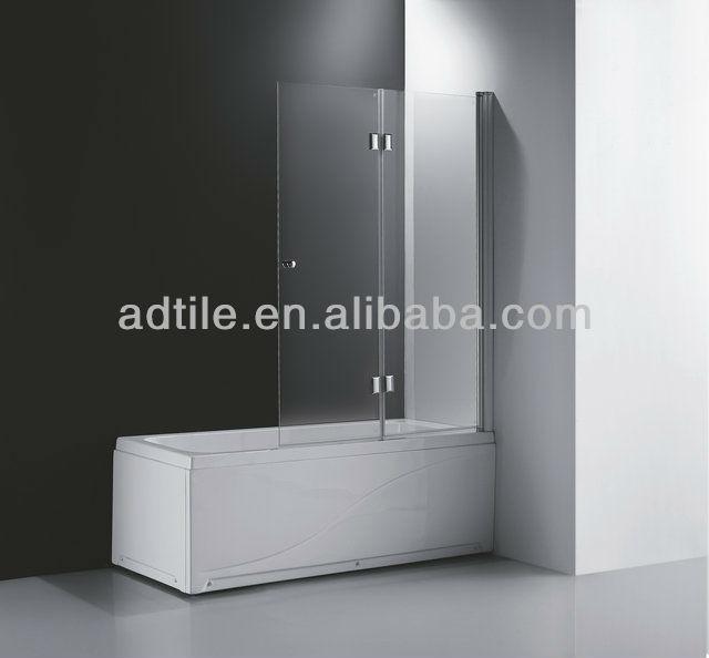 Frameless Folding Glass Doors Bath Screen Bathscreen 120x150cm - Buy ...