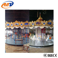 Hot selling amusement equipment outdoor christmas carousel for sale, carousel horses