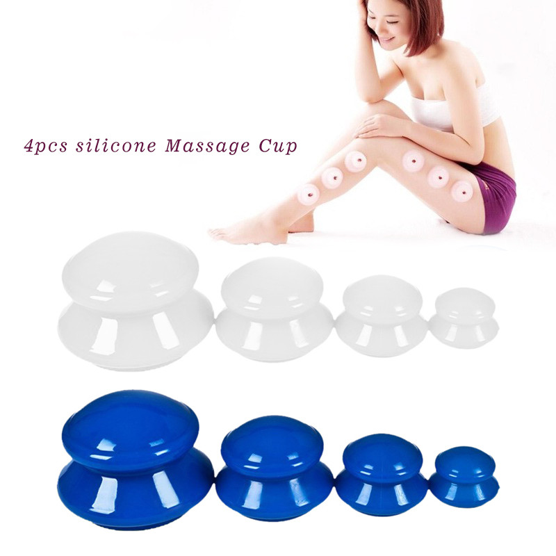 Moisture Absorber Anti Cellulite Vacuum Cupping Cup Silicone Family Facial Body Massage Therapy Cupping Cup