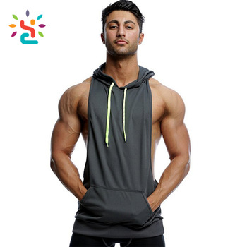 61d3a27ae25adb China Wholesale Custom Men Muscle Gym stringer Hoodie Workout Fitness Hoodie  Zipper Sleeveless Fleece Hoodie
