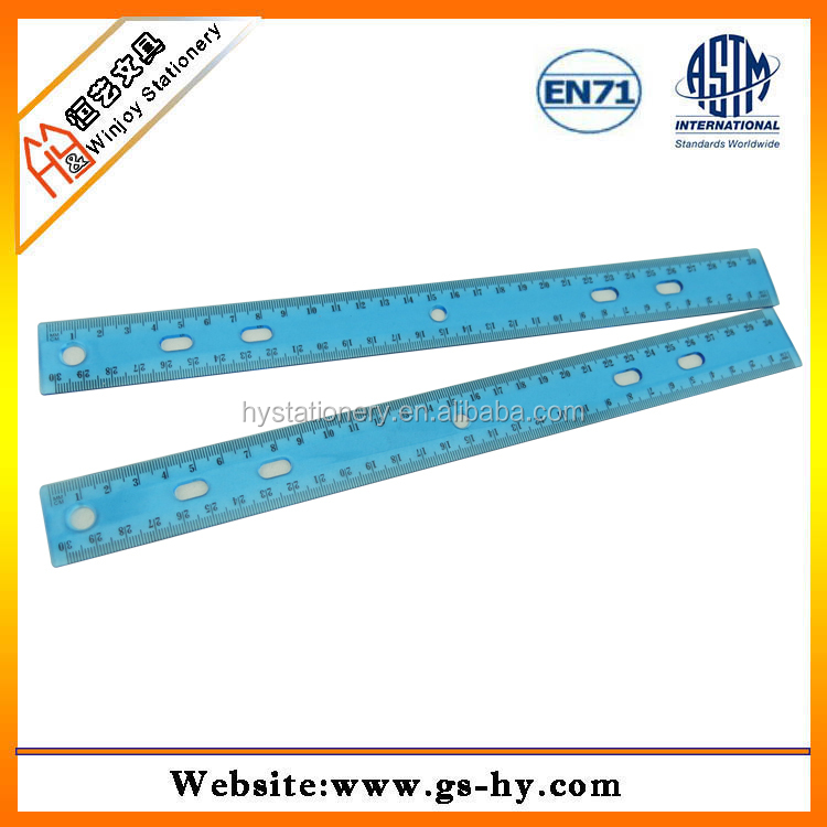 Wholesale 30cm safety ruler manufacturer with middle hole ...