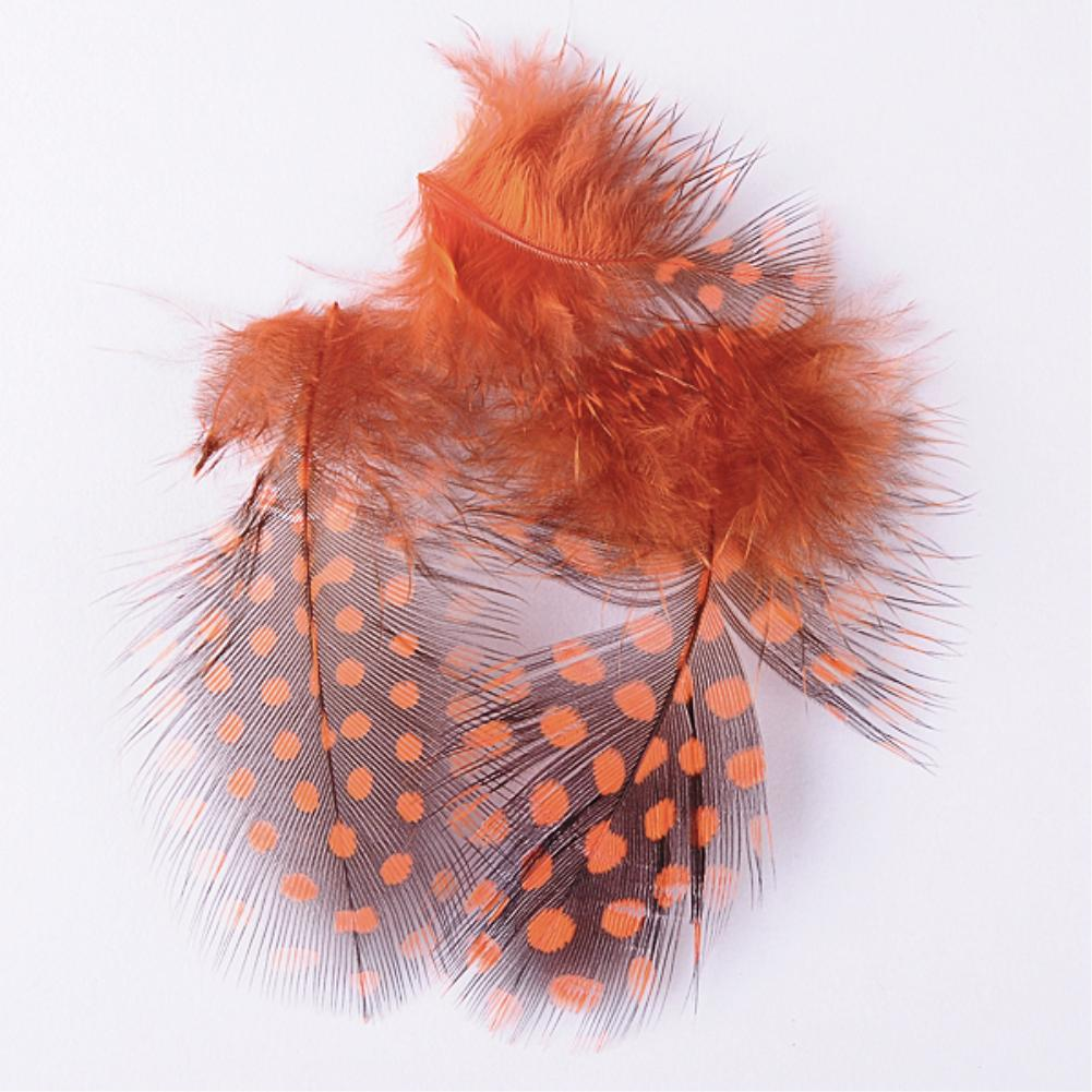 Nail Tool Fancy 3D Nail Art Tips Polka Dot Feather Stickers Decals DIY Decoration Orange ES5207