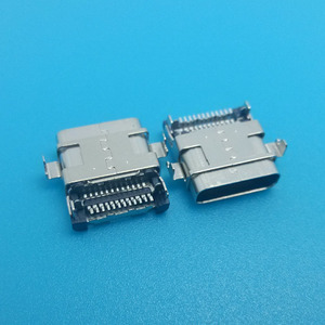 Female 12 pins mid mount usb type c connector