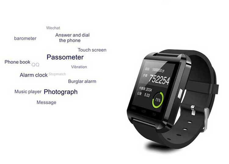 Ce Rohs Smart Watch U8 Android Bluetooth Smart Watch Step ...