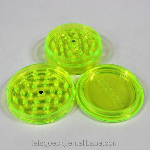 High Grade Smoking Weed Grinder Acrylic Plastic Herb Grinder - Buy ...