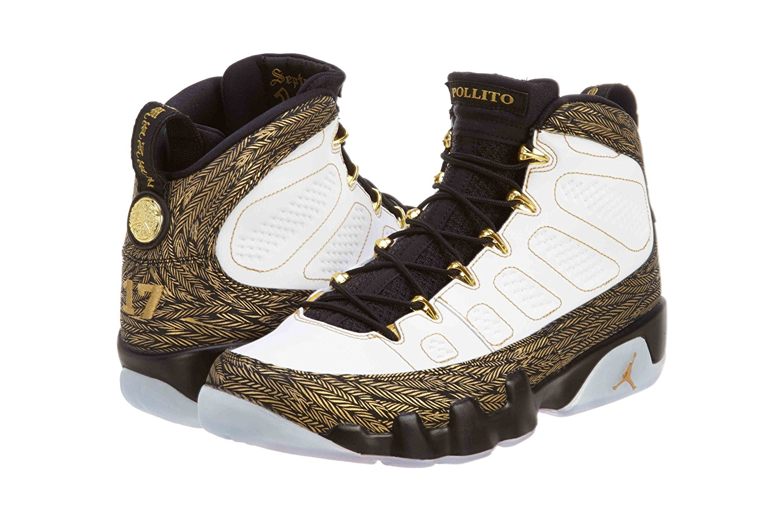 6655d4f1725d4 Buy Nike Mens Air Jordan 9 Retro White/Tour Yellow-Concord Leather ...