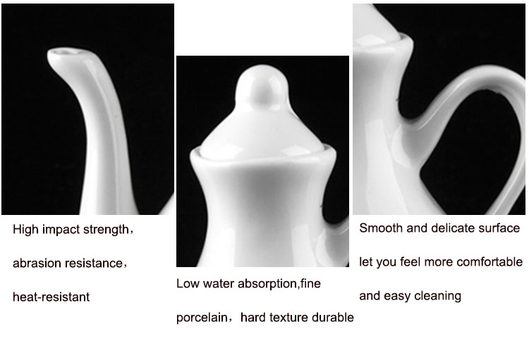 P&T Royal Ware White Ceramic Porcelain Tea Pot