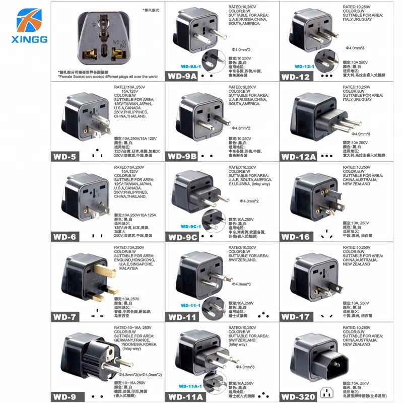 2018 cheapest bs1363 uk 13a fuse plug adapter