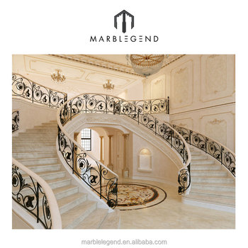Superbe Home Design Natural Stone Marble Staircase Manufacturer Price