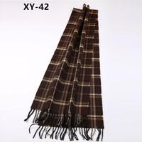 XYWJ42-52 fashion winter plaid tassel blanket scarf men scarf