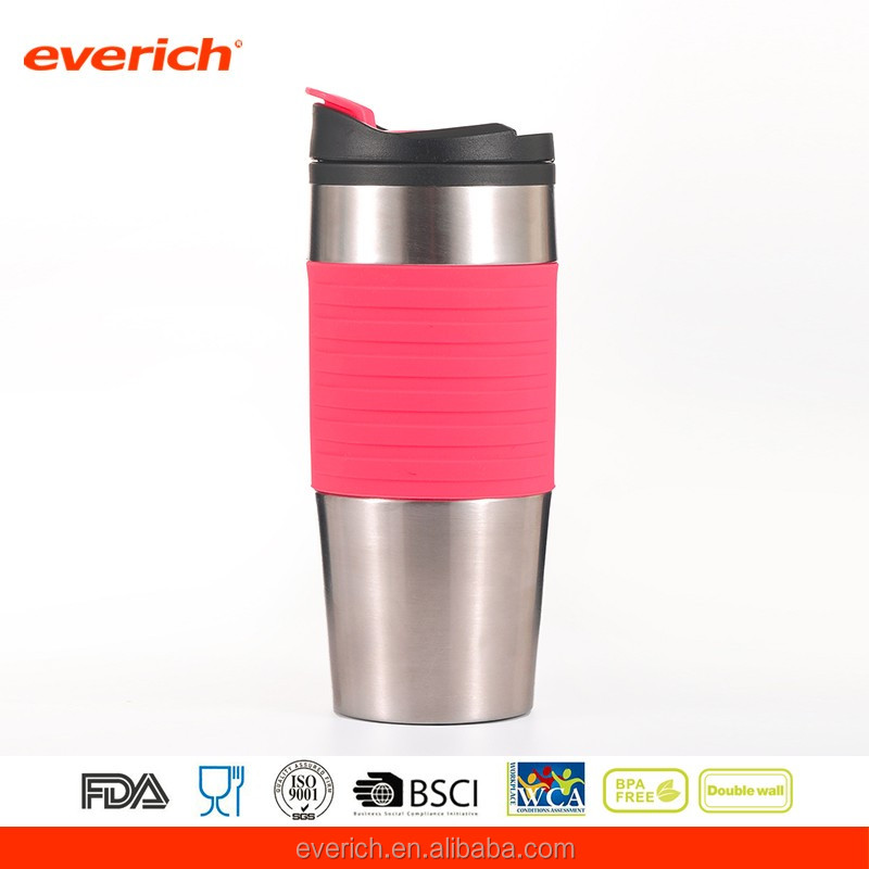 PP Inside Stainless Steel Outside Custom Coffee Travel Mug