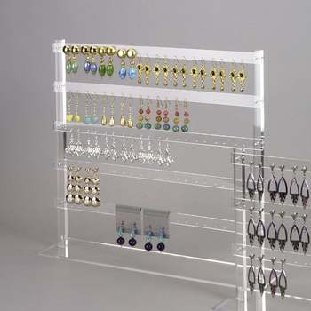 Whole Acrylicjewellery Earring Display For Multiple Earrings Clear Acrylic Drop Jewellery Stand Rack