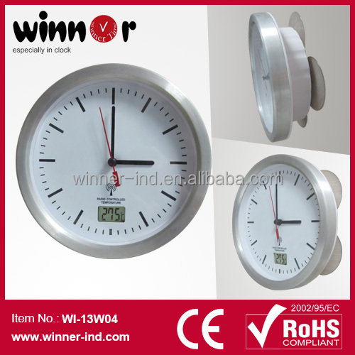 Bathroom Clock With 4 PVC Suckers  Waterproof Clock with Radio Controlled. Bathroom Clock With 4 Pvc Suckers Waterproof Clock With Radio