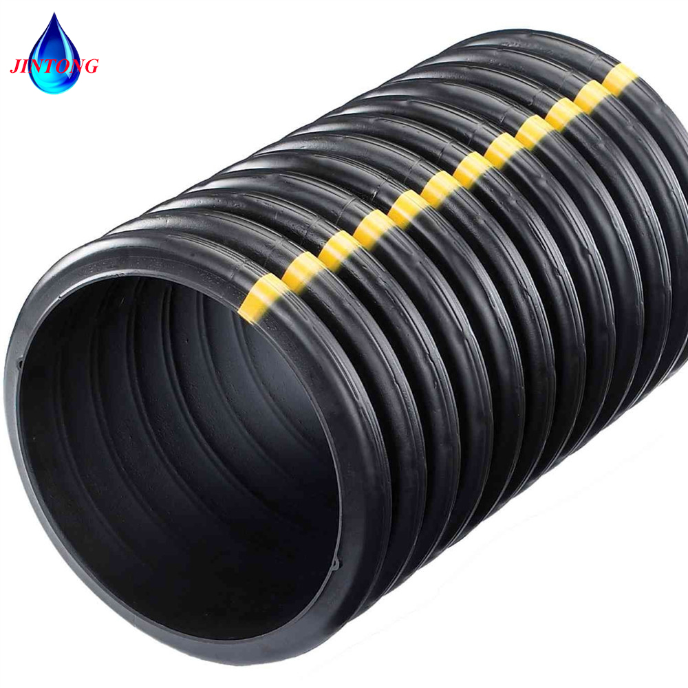 Hdpe High Quality Flexible Twin Wall Double Wall Corrugated Perforated Pipe  For Water Drainage Tube - Buy Hdpe Corrugated Pipe For Drainage Or