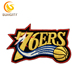 Promotional Design Patch For NBA Baskeball PHILIDAPHIA 76ERS Embroidery Patch