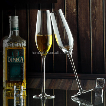 Promotional products hand made elegant champagne flutes fancy crystal wine goblet for wedding