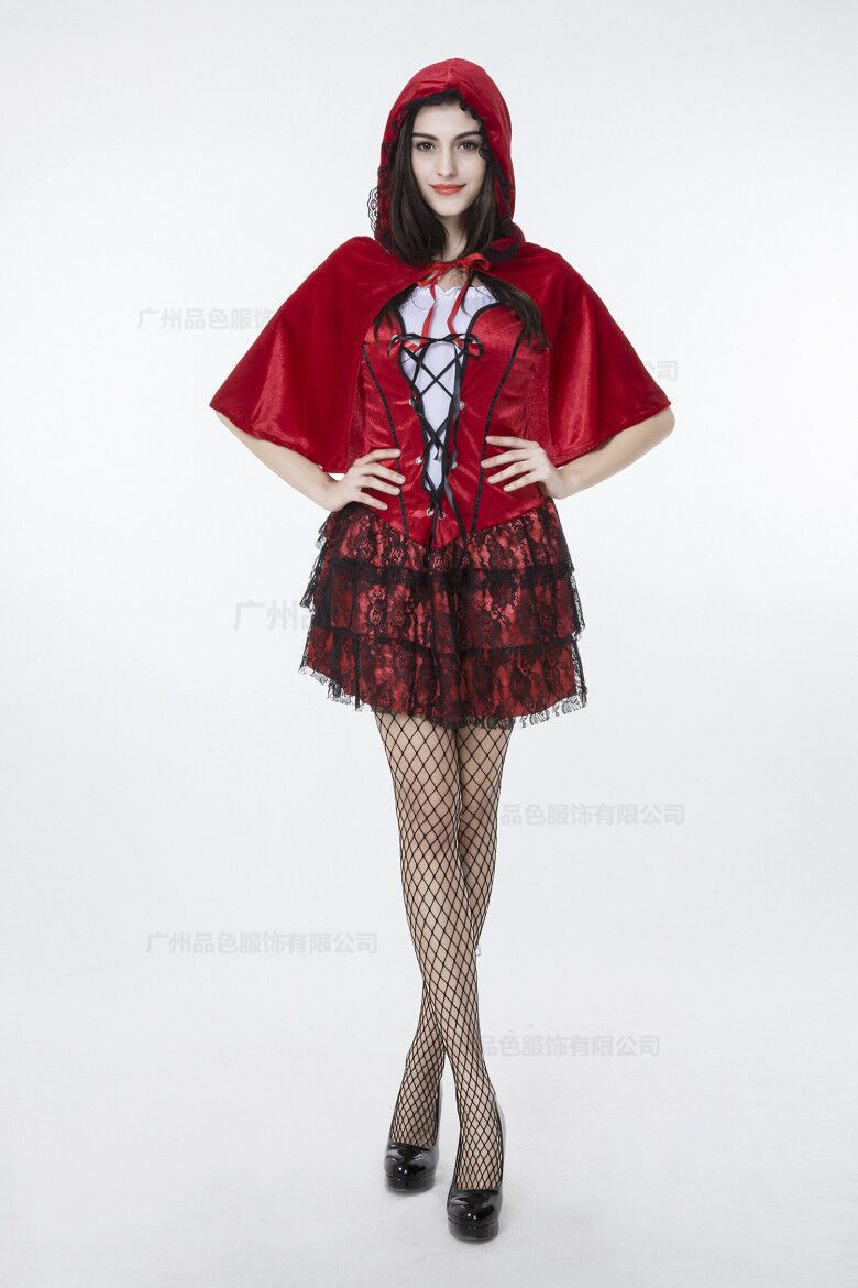 Get Quotations · Sexy Little Red Fairy Tale Costume Princess Halloween  Costumes For Women Club Party Stage Costumes Women 5f15439a9181