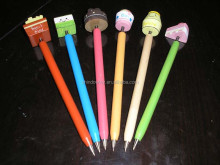 candy wooden cartoon ballpoint pens