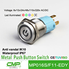 Export 16mm CMP brand stainless steel dot light push button switch