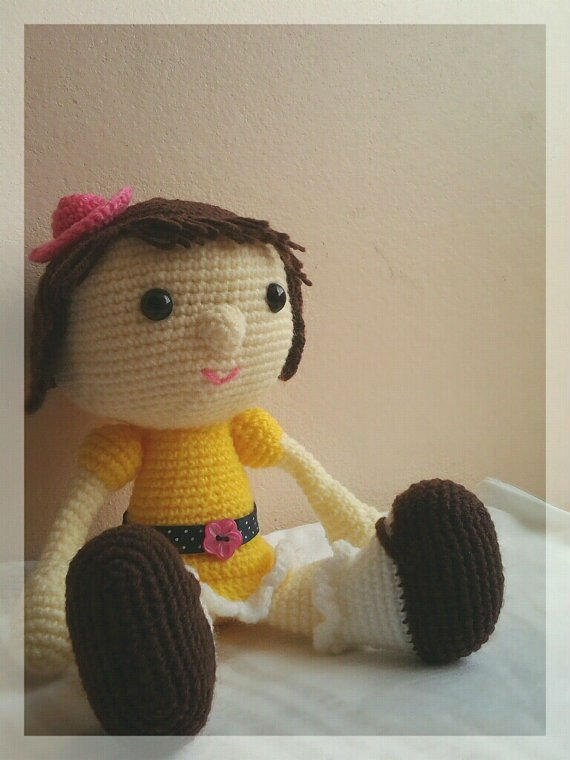 Apresento a Mya 100% articulada. - YouTube | Bonecas de crochê ... | 760x570