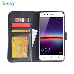 2018 Popular Mobile phone accessories Flip Folio PU Leather Wallet Case For Moto G6 Plus With Money Pocket Cards Slots