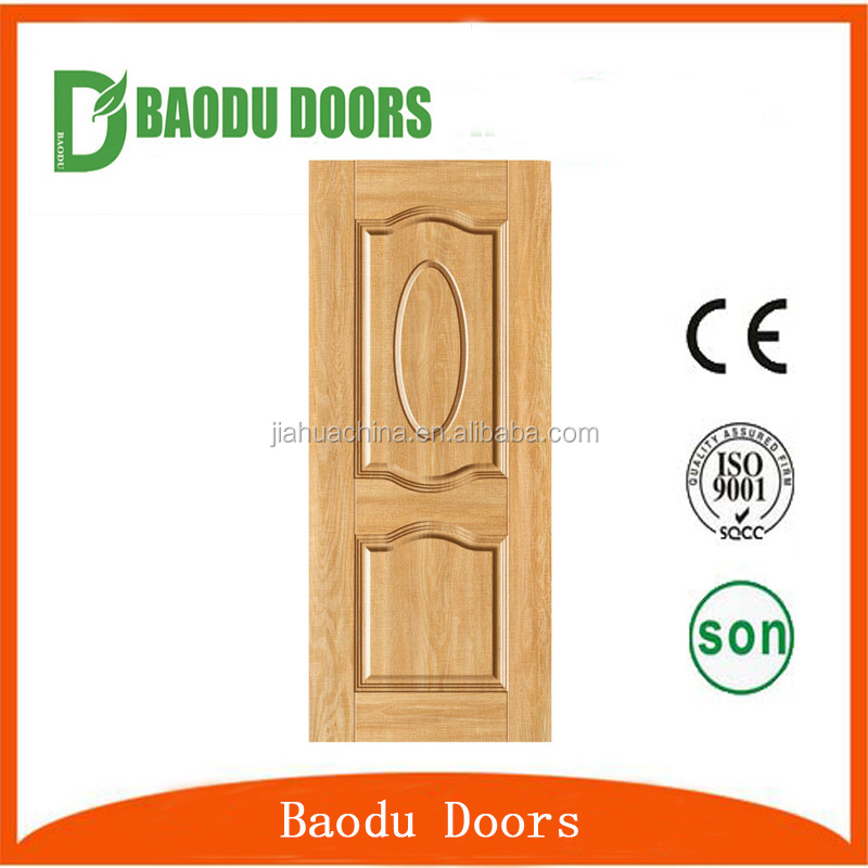 Baodu 2016 building materials melamine wooden bedroom door skin design golden supplier