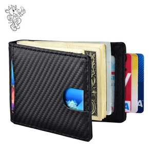 custom high quality amazon new style classic carbon fiber money clip wallet men luxury carbon fiber wallet money clip 2019
