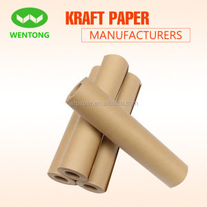 Brown butcher paper roll in kraft paper