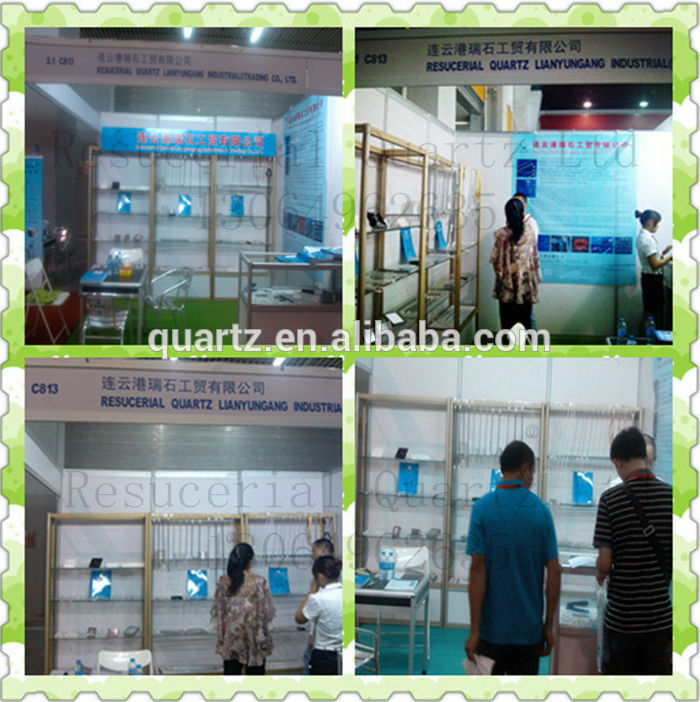factory supply all size of quartz glass tube