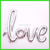 silver globos decor link love balloon