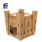 Custom castle house shape cardboard model