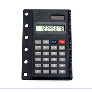 Dual Power Organizer Super Thin Pocket Calculator for Ring Binder