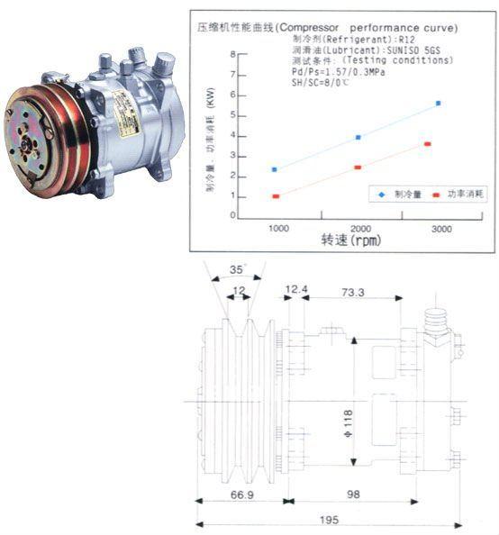Sanden 507 9173 Auto A/c Compressor