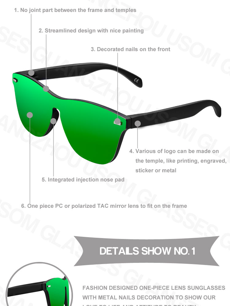 f8aa519be426 New Product Ideas 2019 China Ali Top Supplier Wholesale Polarized Safety  Sunglasses Mix Color Rimless Sun