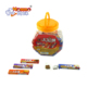 Jar packing assorted flavour sweet soft chewy toffee candy