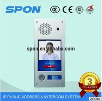 "TCP SIP IP Video intercom terminal 7""Touch LCD Screen Door Phone for Multi Apartment IP 54 ProtectionP"