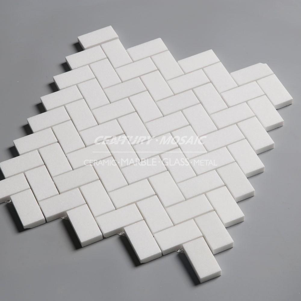 타 소스 화이트 연마 돌 모자이크 타일 욕실 벽 - Buy Product on ...