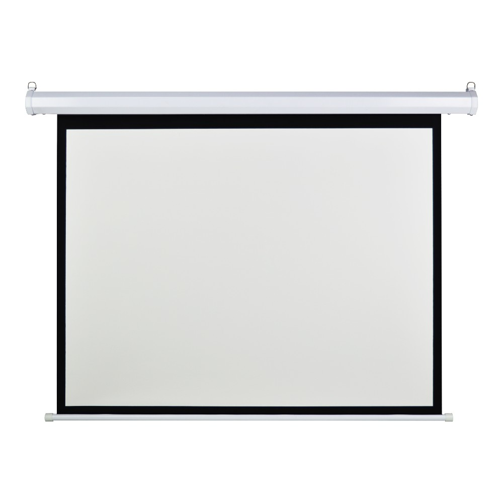 Factory low price 100 inch matte white motorized projector for 100 inch motorized projector screen