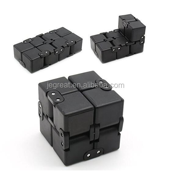 2017 newest stress relief magic fidget toy Folding Infinite Cube