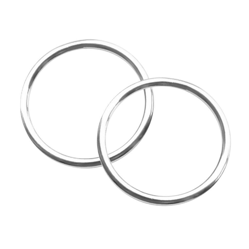 "MonkeyJack 2pcs/set Seamless Welded 1.6""/ 2"" 316 Stainless Steel O Round Rings Boat Hardware"