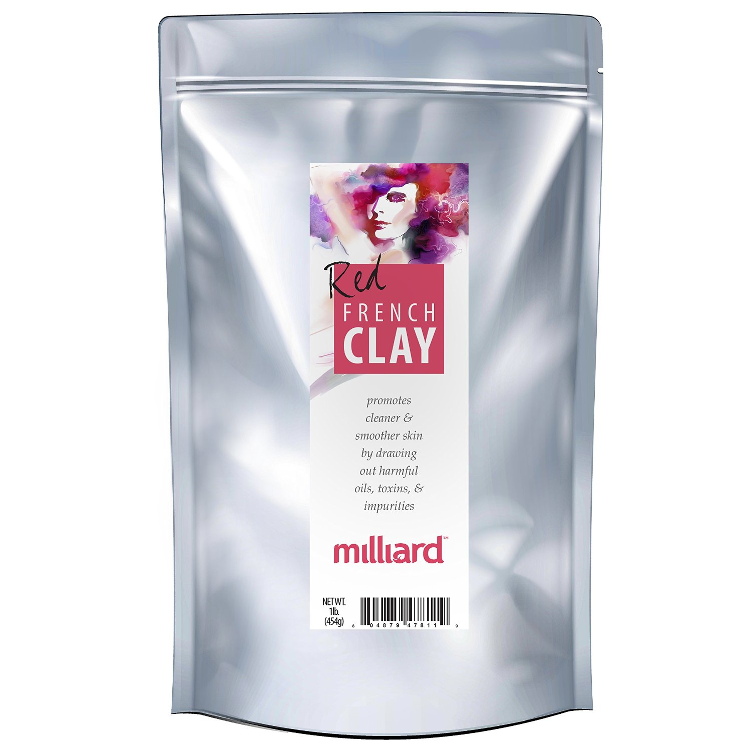 MILLIARD 100% Pure and Natural French Red Clay - Facial and Body Mask - 1 lb.