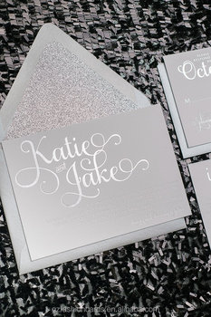 silver glitter foil printing wedding invitations suite buy silver