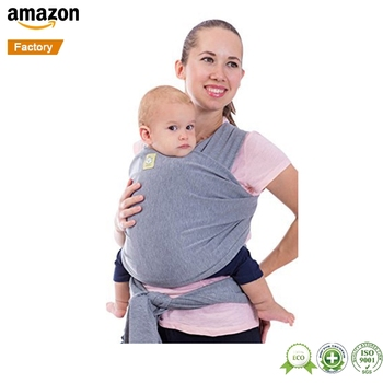 ab6ef550772 45x510CM 55x510CM Highly Raved Classic Gray Hands Free Baby Sling Baby Wrap  Carrier by KeaBabies