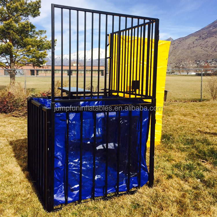 Popular water game PVC bag dunk tank machine for sale
