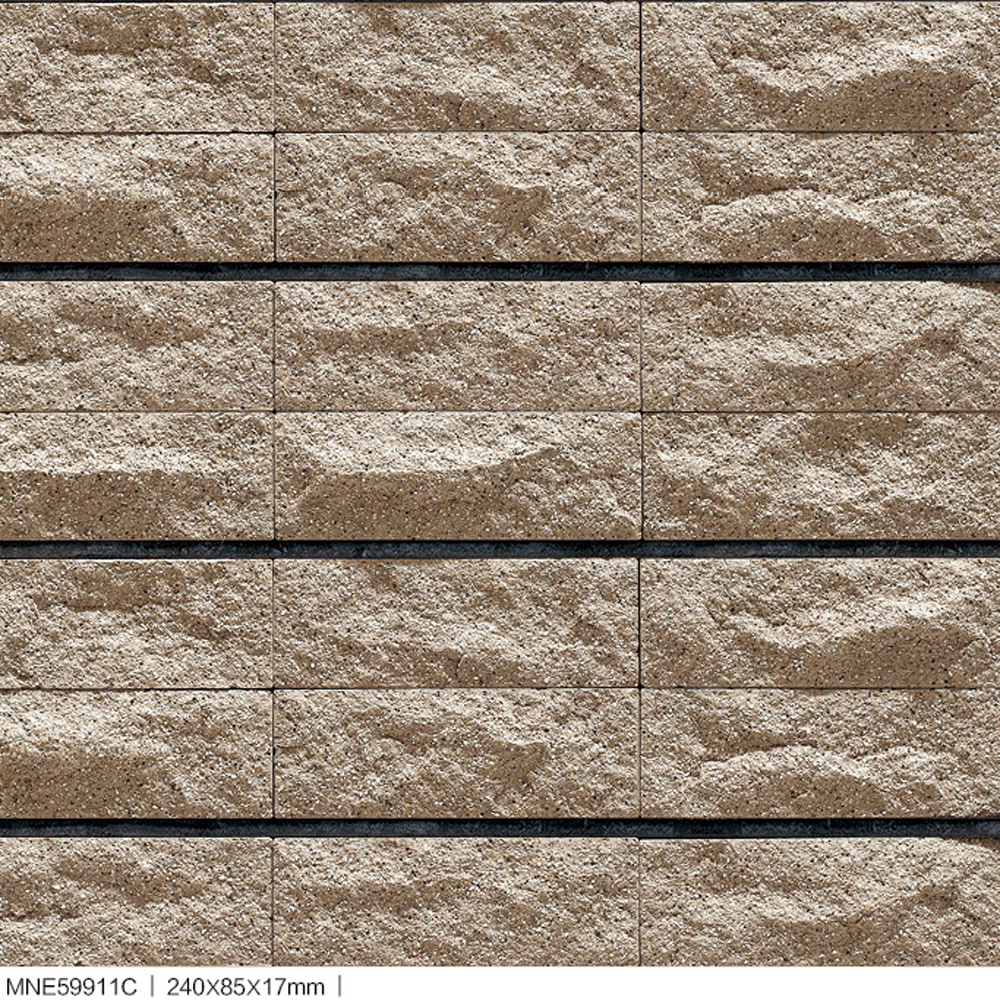 Beautiful Looking Of River Sand Stone Surface Split Rock Exterior Wall Tiles  For Villa House Pillar