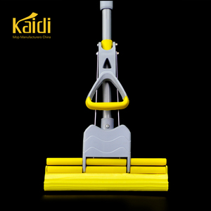 2018 KAIDI Iron Pole Material smart cleaning easy clever quick double rollers PVA mop