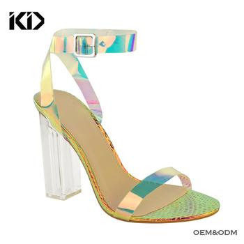 Mujer Transparente Holograma 2018 Venta Buy Holograma Transparentes Pvc Mujeres zapatos Luciet Zapatos Caliente De Tacón Sandalias 2018 QxrCdBeoW