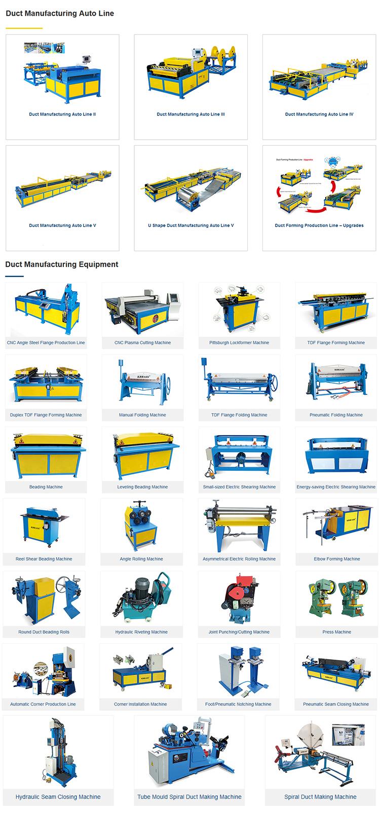 Spiral Hvac Duct Machine Spiral Pipe Forming Machine Price