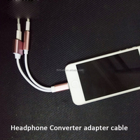 Headphone Converter,To 3.5mm Audio Jack Adapter Cable with USB Charging and Earphone Port for iPhone 7/7 Plus